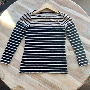J Crew Striped Painter Long Sleeve Tee Shirt